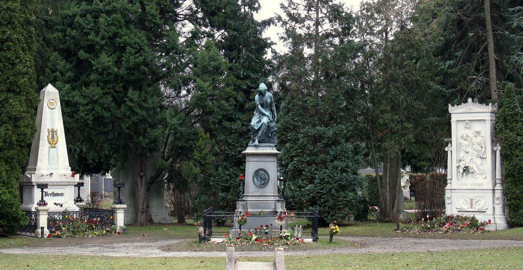 Cementerio Central de Viena con las tumbas de Beethoven y Mozart