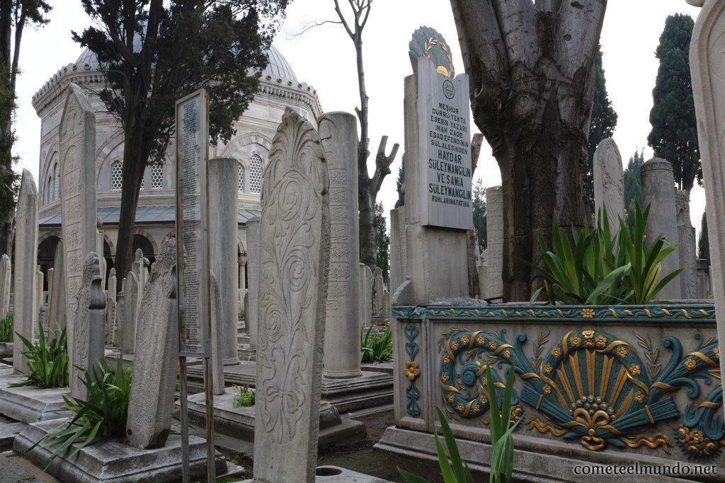 Cementerio musulmand de Eyup en Estambul
