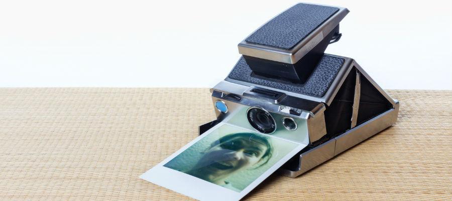 Uno de los modelos de cámara Polaroid