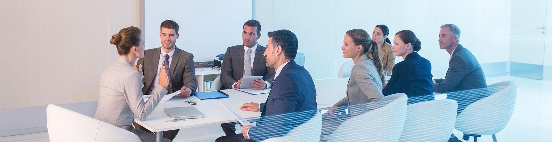 Imagen de reunión corporativa